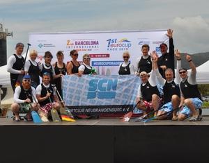 Das Team der AmaZoonas Turtles bei der Siegerehrung