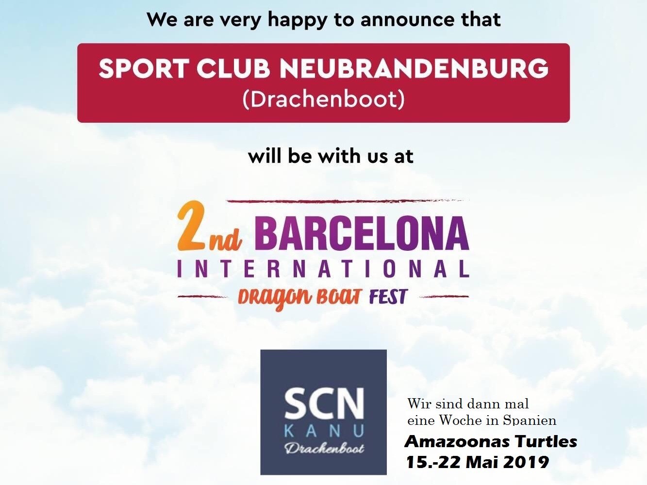 Poster zum 2. Internationalen Drachenbootfest in Barcelona