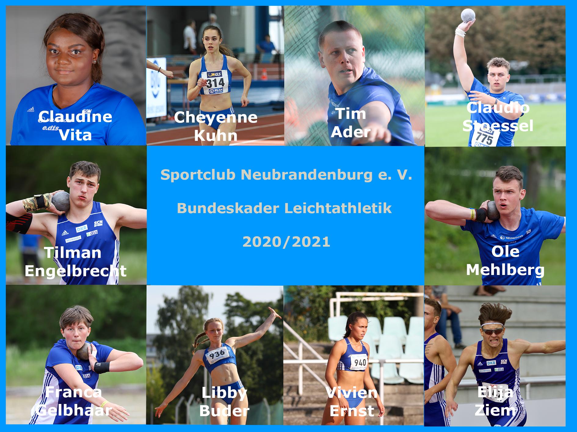Bundeskader SCN Leichtathletik 2021